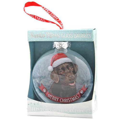 Chocolate Brown Labrador Gift Bauble for Christmas - The Pet Vault