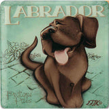 Chocolate Brown Labrador Gift Magnet with Stand - The Pet Vault