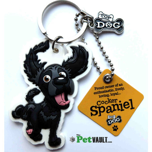 Black Cocker Spaniel Gift Keyring - The Pet Vault