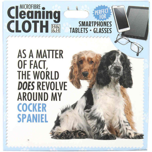 Cocker Spaniel Gift Phone, Screen and Glasses cleaning microfibre cloth - The Pet Vault