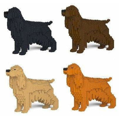 Cocker Spaniel Ornament Gift Model by Jekca, Building block model Gift in four colours - The Pet Vault