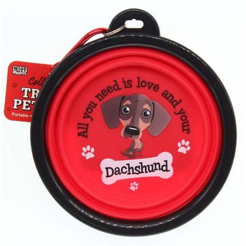 Dachshund Sausage Dog Collapsible Travel Dog Bowl Gift - The Pet Vault