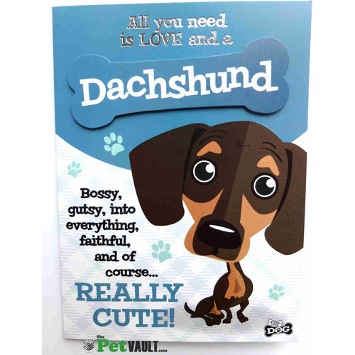 Dachshund Sausage Dog Gift Greeting Card - The Pet Vault