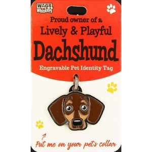 Dachshund Sausage Dog ID Tag Charm Gift for Dachshund Lovers by Wags and Whiskers - The Pet Vault