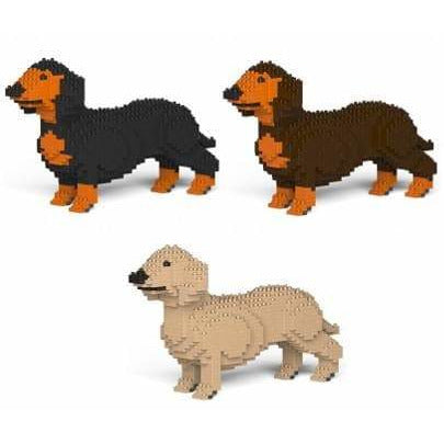 Dachshund Sausage Dog Ornament Gift Model by Jekca, Building block model Gift in four colours - The Pet Vault