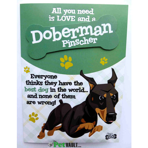 Doberman Gift Greeting Card - The Pet Vault