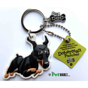 Doberman Gift Keyring - The Pet Vault