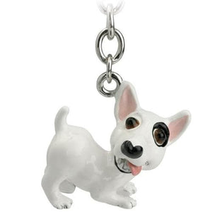 English Bull Terrier Gift Figurine Keyring and Charm - The Pet Vault