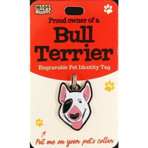 English Bull Terrier Dog ID Tag Charm Gift for EBT dog Lovers by Wags and Whiskers - The Pet Vault