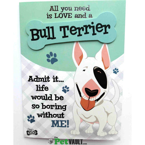 English Bull Terrier Gift Greeting Card - The Pet Vault