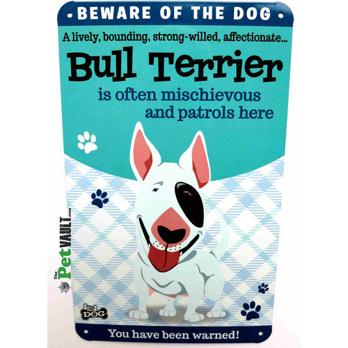 English Bull Terrier Gift Sign - The Pet Vault