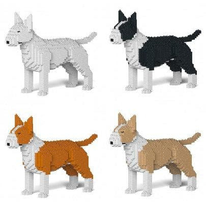English Bull Terrier Ornament Gift Model by Jekca, Building block model Gift in four colours - The Pet Vault