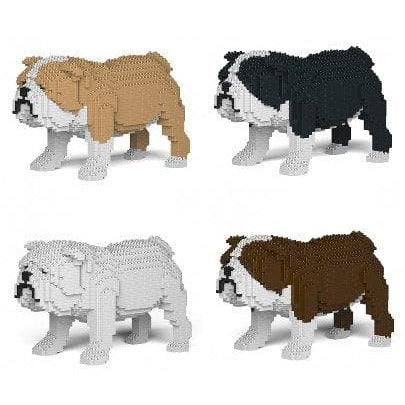 English Bulldog Ornament Gift Model by Jekca, Building block model Gift in four colours - The Pet Vault