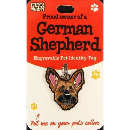 German Shepherd Dog ID Tag Charm Gift for GSD Lovers by Wags and Whiskers - The Pet Vault