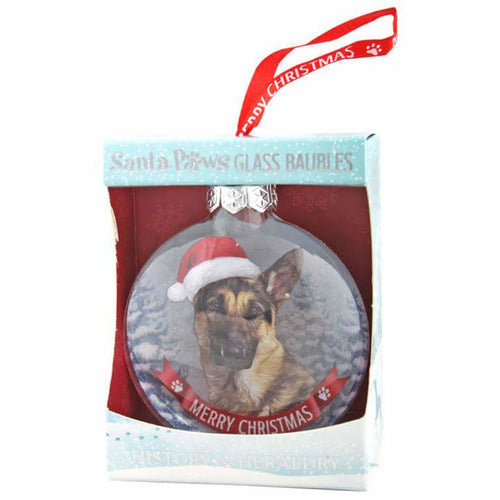 German Shepherd Gift Bauble for Christmas - The Pet Vault