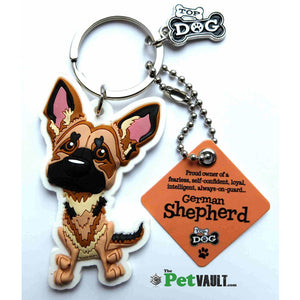 German Shepherd Gift Keyring - The Pet Vault