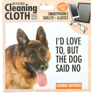 German Shepherd Gift Screen, Phone or Glasses cleaning microfibre cloth
