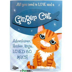 Ginger Cat Gift Greeting Card - The Pet Vault