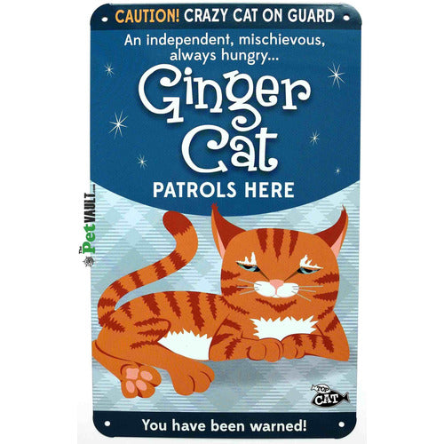 Ginger Cat (Laying Down) Gift Sign - The Pet Vault