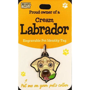 Golden Labrador Dog ID Tag Charm Gift for Yellow Labrador Lovers by Wags and Whiskers - The Pet Vault