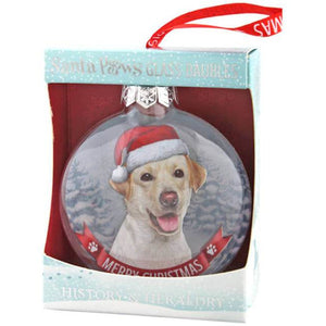 Golden Yellow Labrador Gift Bauble for Christmas - The Pet Vault