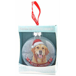 Golden Retriever Gift Bauble for Christmas - The Pet Vault