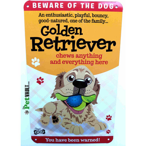 Golden Retriever Gift Sign - The Pet Vault