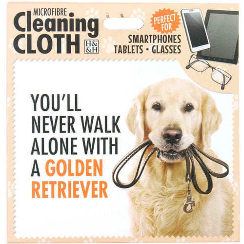 Golden Retriever Gift Screen, Phone or Glasses cleaning microfibre cloth