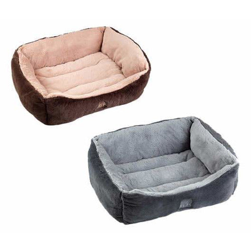 GorPets Dream Slumber Warm soft comfy dog bed in grey or brown - the pet vault