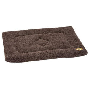 Gor Pets Sherpa Warm and Soft Dog Crate / Cage Mat - Brown - The Pet Vault