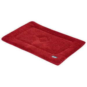Gor Pets Sherpa Warm and Soft Dog Crate / Cage Mat - Red - The Pet Vault