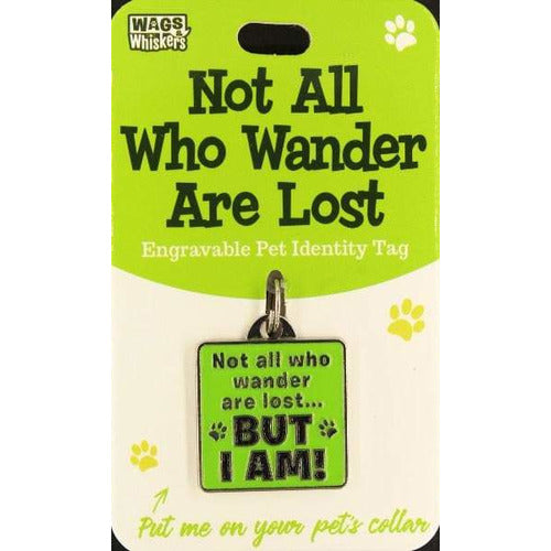 I'm Lost Funny and Cute Dog ID Tag Collar Charm Crown with I'm Lost phrase - The Pet Vault