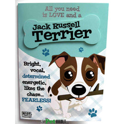 Greeting cards the pet vault jack russell gift birthday or christmas card the pet vault bookmarktalkfo Image collections
