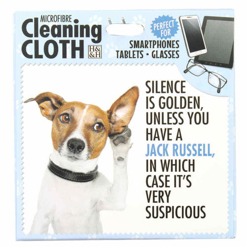 Jack Russell Phone, Screen or Glasses cleaning Microfibre Cloth