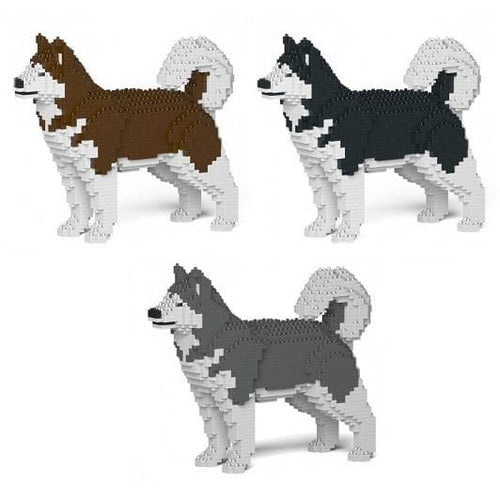 Jekca Alaskan Malamute Gift Ornament Model, gift for Alaskan Malamute dog lovers in three colours - The Pet Vault