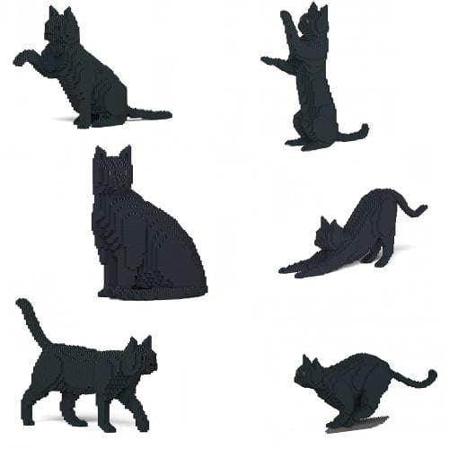 Jekca Black Cat Gift Ornament Model, gift for Black Cat lovers in four poses - The Pet Vault