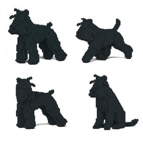Jekca Black Schnauzer Gift Ornament Model in four poses, gift for Schnauzer dog lovers - The Pet Vault