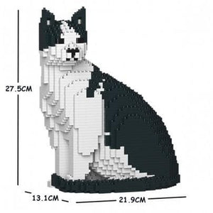 Jekca Black and White Cat Gift Ornament Model, gift for Black and White Cat lovers in four poses - The Pet Vault