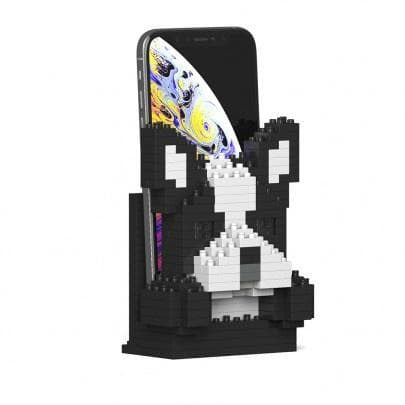 Jekca Boston Terrier Gift Phone Stand Lego style - The Pet Vault