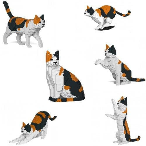 Jekca Calico Cat Gift Ornament Model, gift for Calico Cat lovers in four poses - The Pet Vault
