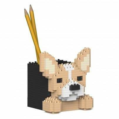Jekca Chihuahua Gift Pen Pot Desk Organiser lego inspired - The Pet Vault