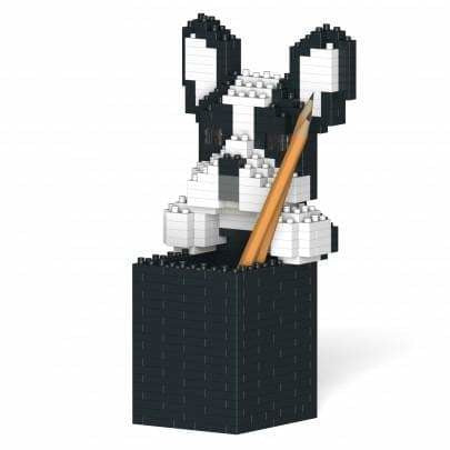 Jekca French Bulldog Gift Pen Pot Desk Organiser, Gifts for Frenchie Lovers - lego inspired - The Pet Vault
