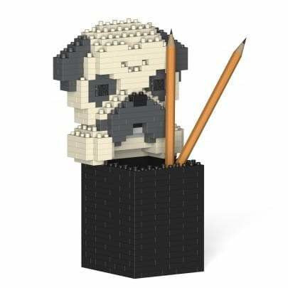 Jekca Pug Gift Pen Pot Desk Organiser, Gifts for Pug Lovers - lego inspired - The Pet Vault