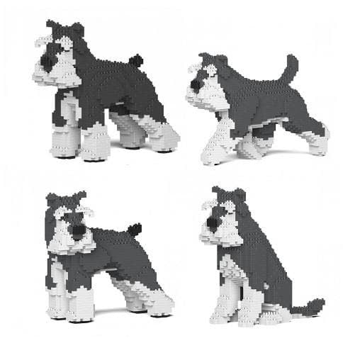 Jekca Schnauzer Gift Ornament Model in four poses, gift for Schnauzer dog lovers - The Pet Vault