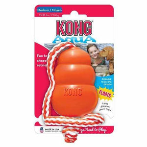 KONG AQUA Orange Dog Retrieval Toy Floating Water Dog Toy - The Pet Vault