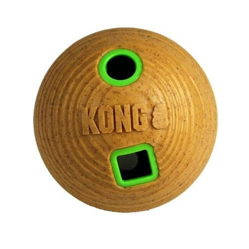 KONG Bamboo Feeder Ball Dog Treat Dispensing Dog Toy - The Pet Vault