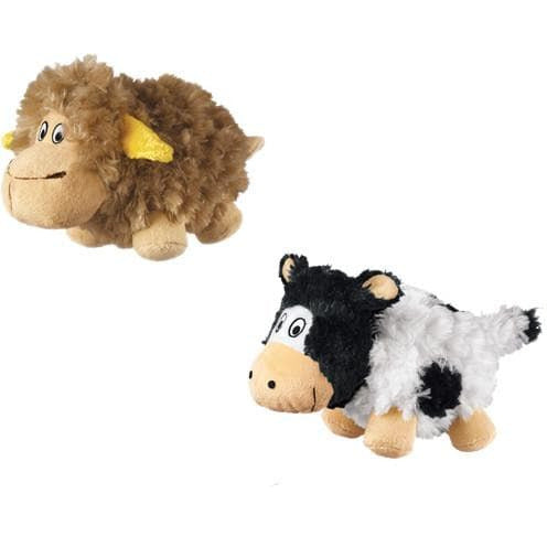 KONG Barnyard Cruncheez soft dog toy with bottle and rattle crunch noises - The Pet Vault