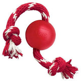 KONG Classic Ball With Rope Dog Toy - The Pet Vault