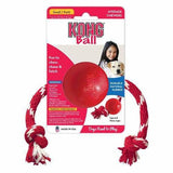 KONG Classic Ball With Rope Dog Toys - The Pet Vault