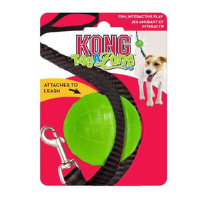 KONG TagALong Dog Toy Ball with Dog Lead Attatchment - The Pet Vault